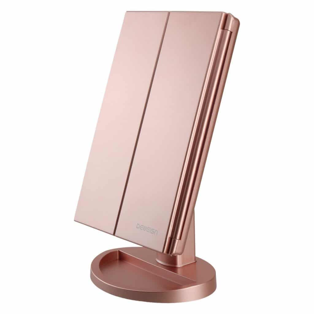 RICHEN DeWEISN Tri-Fold Lighted Vanity Makeup Mirror