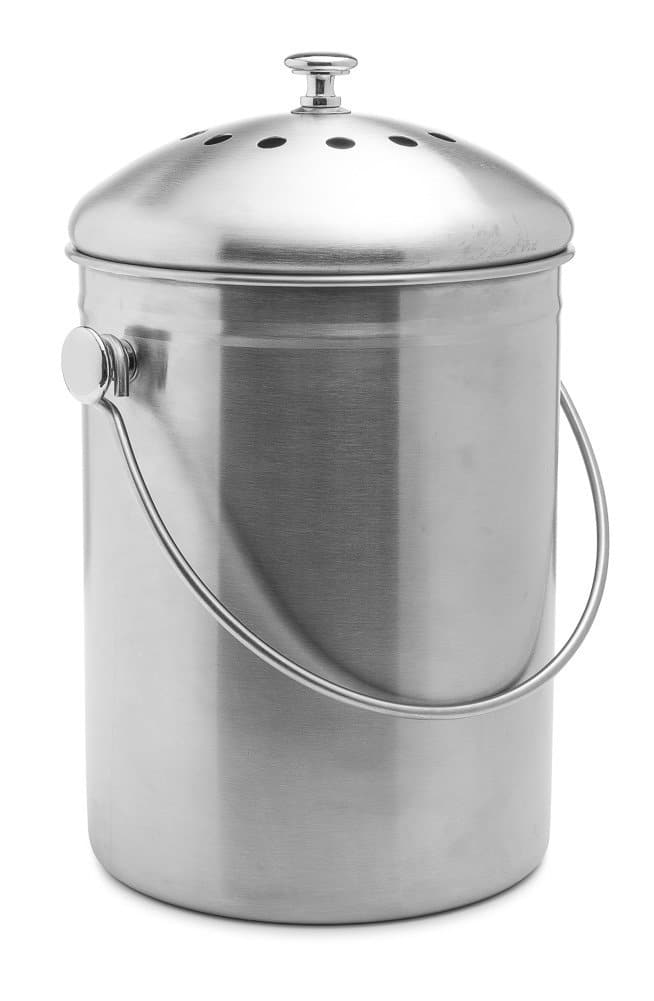 Top Rated Epica Stainless Steel Compost Bin 1.3 Gallon