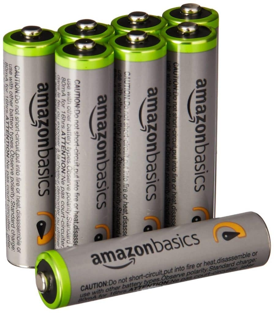 AmazonBasics AAA High-Capacity Rechargeable Batteries