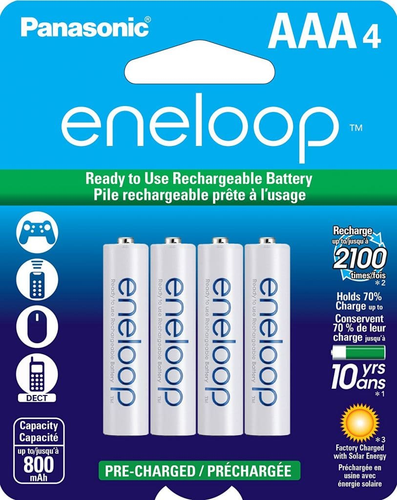 Panasonic BK-4MCCA4BA eneloop AAA 2100 Cycle Ni-MH Pre-Charged Rechargeable Batteries
