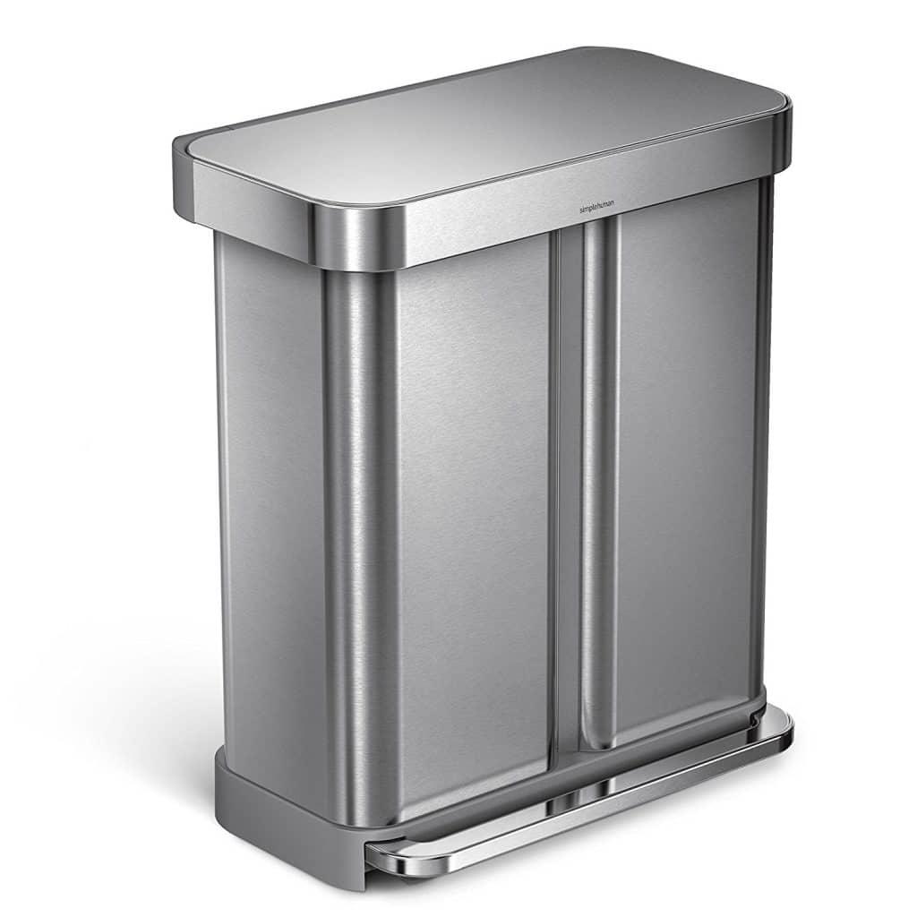 simplehuman 58 Liter / 15.3 Gallon Stainless