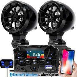 GoldenHawk USA Motorcycle Waterproof Bluetooth Wireless Speaker