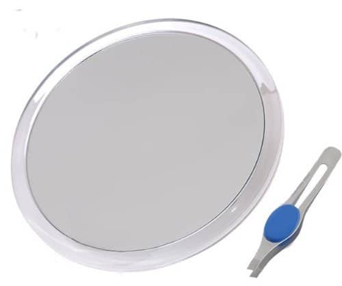 JUMBL Large Suction Cup Magnifying Mirror