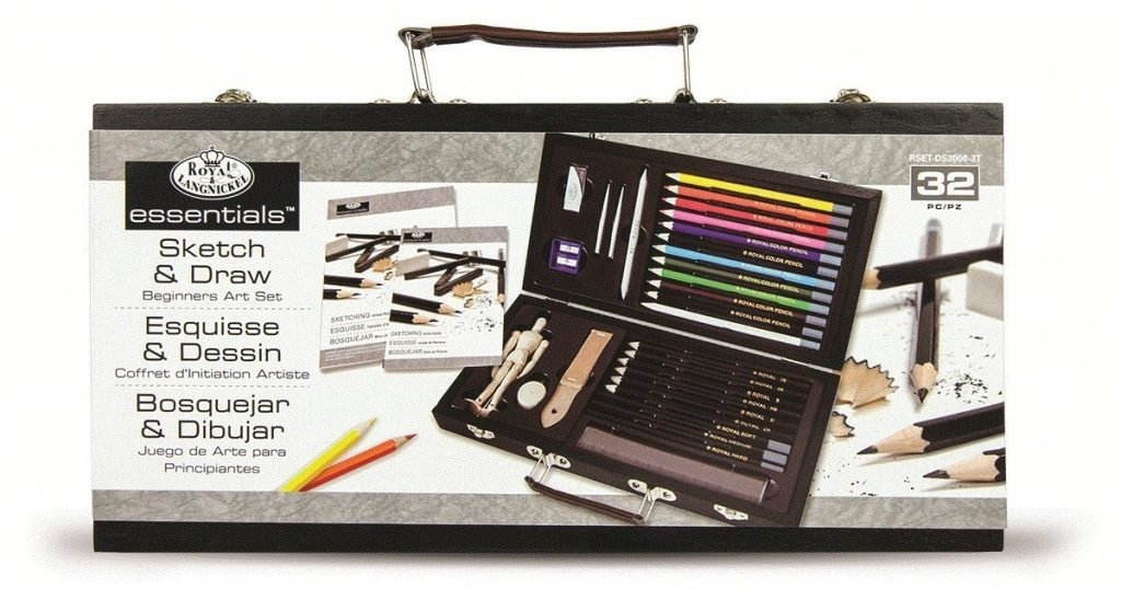 Royal Brush RSET-DS3000 Royal and Langnickel Sketching and Drawing Artist Set for Beginners