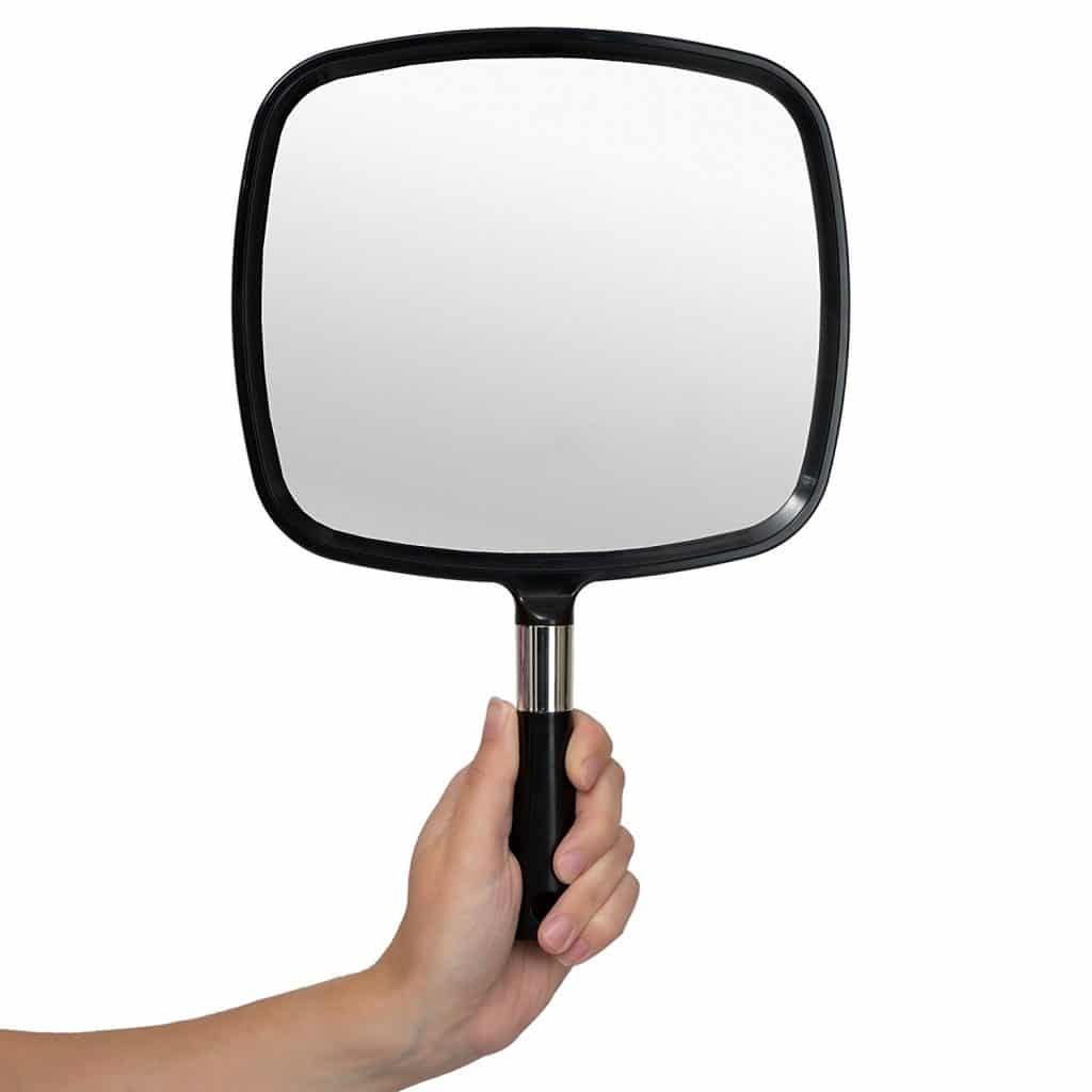 Mirrorvana Large & Comfy Hand Held Mirror
