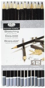Royal & Langnickel SPEN-12 Essentials Sketching Pencil Set