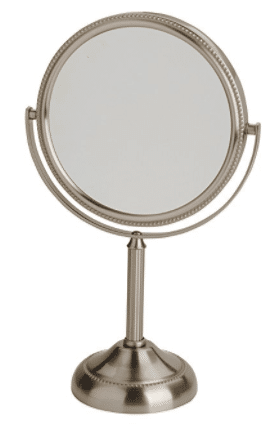 Jerdon JP910NB 6-Inch Tabletop Two-Sided Swivel Vanity Mirror with 10x Magnification