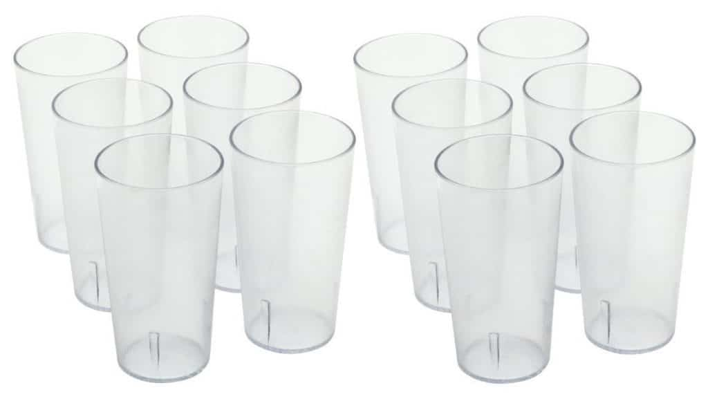 ChefLand Stackable Restaurant Beverage Cup Break-Resistant Plastic Tumbler