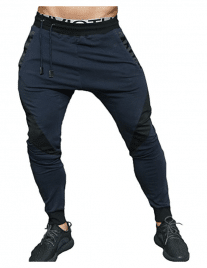EU Men's Joggers Pants Gym Workout Running Trousers with Pockes