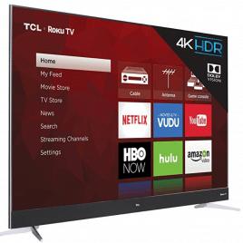 TCL 75C807 75-Inch 4K Ultra HD Roku Smart LED TV