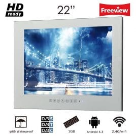 Soulaca 22 inch Frameless Smart Waterproof Magic Mirror Bathroom TV M220FA