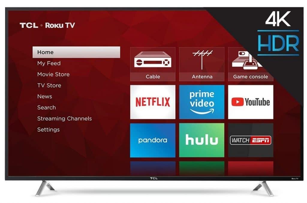 TCL 55S405 55-Inch 4K Ultra HD Roku Smart LED TV