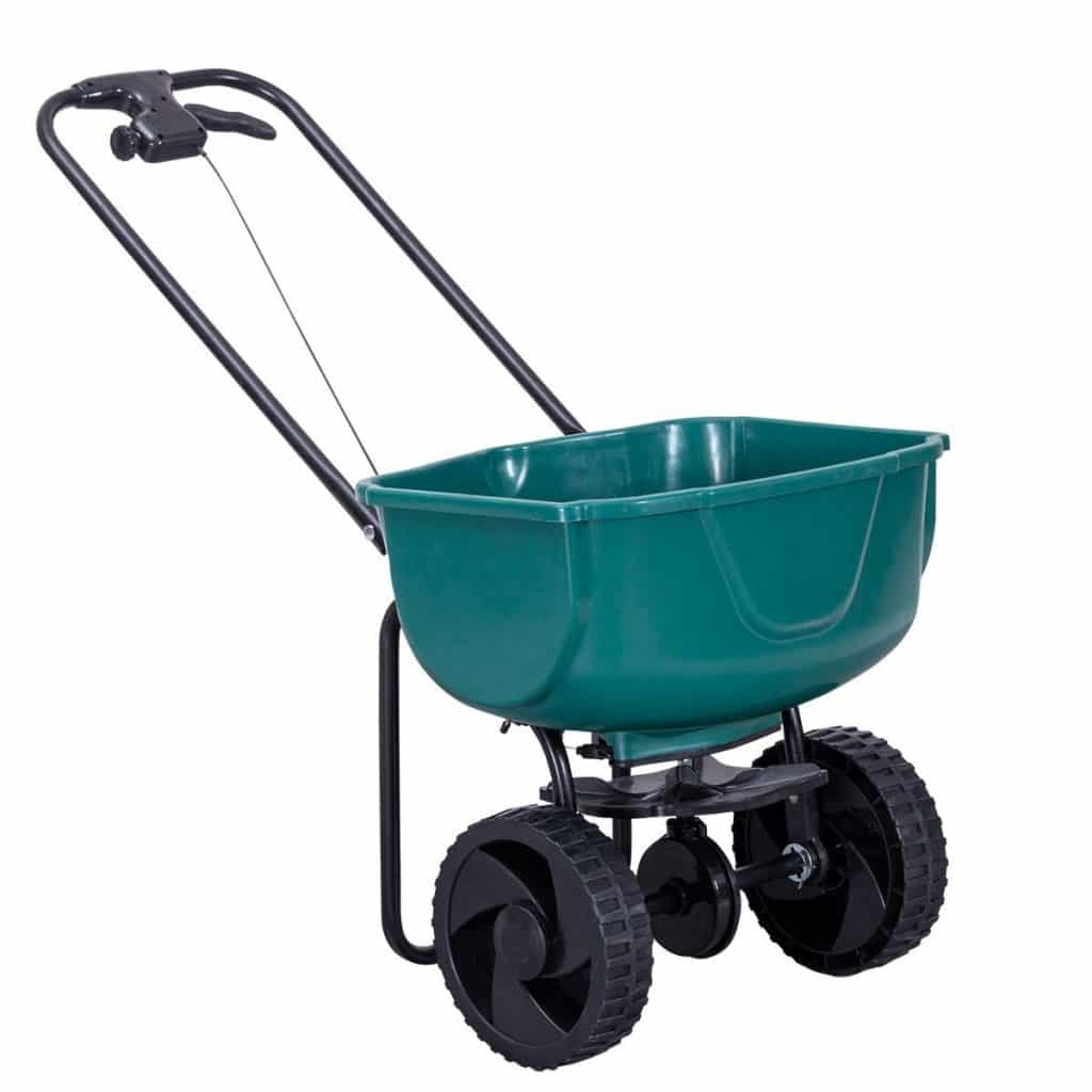 Goplus Broadcast Spreader Garden Lawn Seeder Walk-Behind