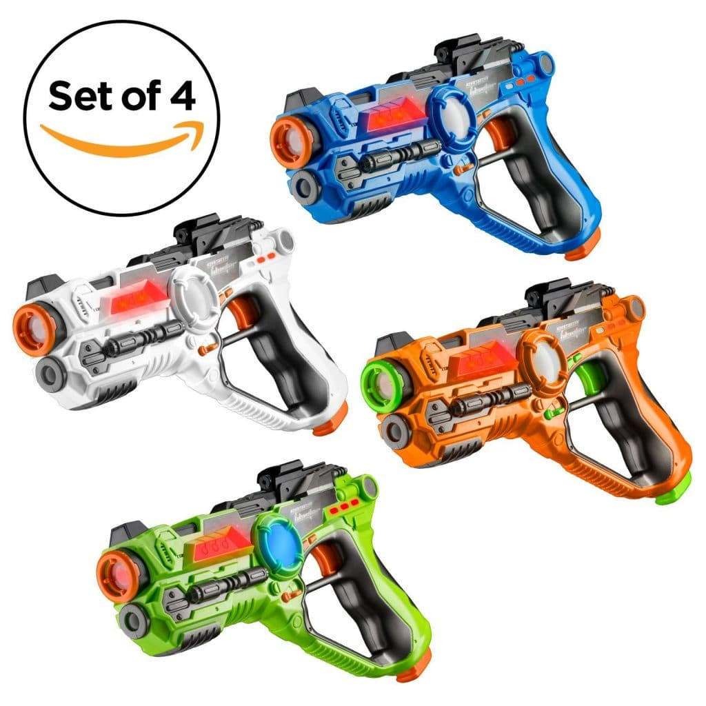 Set of 4 Infrared Laser Tag Guns