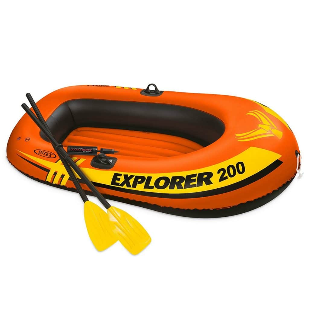 Intex Explorer 200, 2-Person Inflatable Boat Set