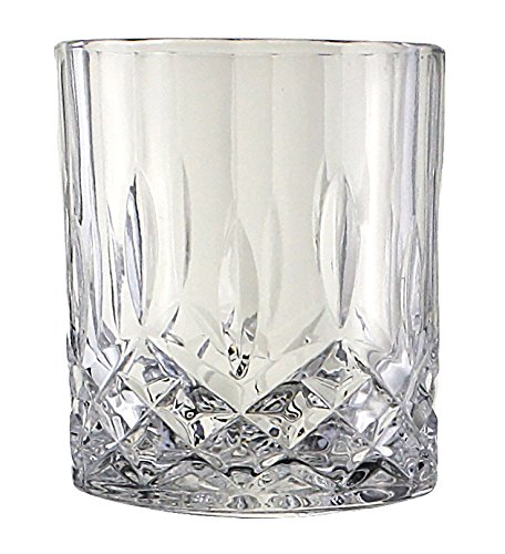 Lead-Free Crystal Double Old-Fashioned Highball Water Glasses