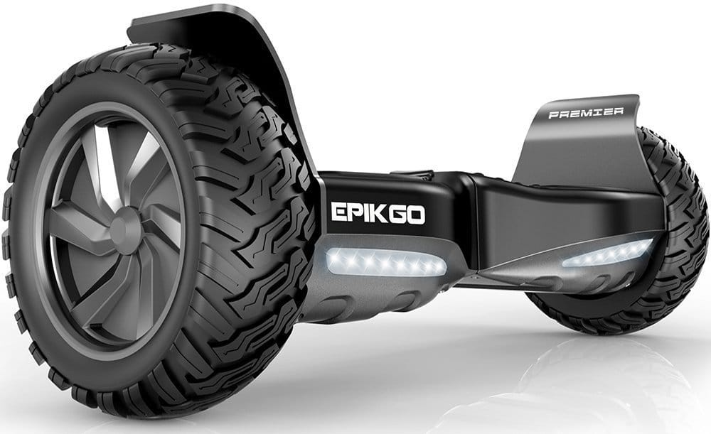 "EPIKGO Premier Series Hover Self Balancing Board Scooter w/ Bluetooth Speaker 8.5"" All-Weather Tire Hover"