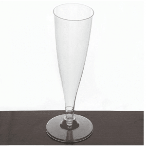 Tablecloths factory Hollow Stem Disposable Plastic Champagne Glass