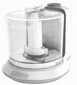 BLACK+DECKER 1.5-Cup Electric Food Chopper, Small Food Processors