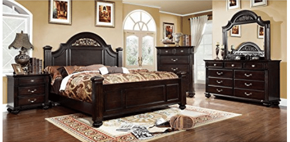 247SHOPATHOME IDF-7129EK-6PC Bedroom-Furniture-Sets, King