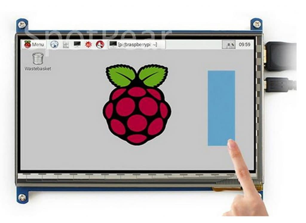 LANDZO 7 Inch Touch Screen for Raspberry Pi 3 Model B and Pi 2 PC