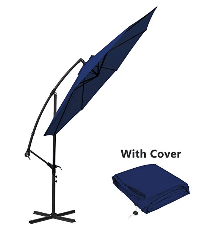 Offset Umbrella Cantilever Patio Umbrella 10 ft
