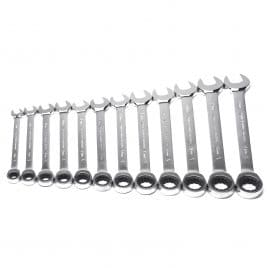 MAXPOWER 12pcs Metric Ratcheting Combination Wrench Set