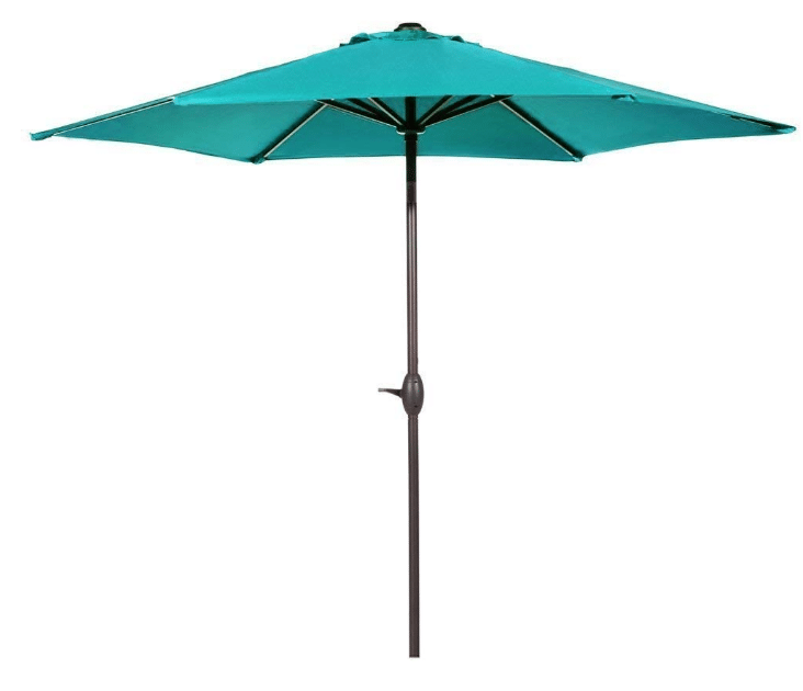 Abba Patio Outdoor Patio Umbrella 9-Feet Aluminum Market Table Umbrella