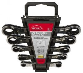 Apollo Tools DT1212 SAE Ratcheting Wrench Set