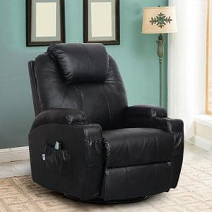 Esright Massage Recliner Chair, Leather Recliners