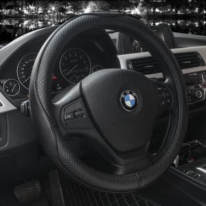 VALLEYCOMFY 15-inch Leather Steering Wheel Covers