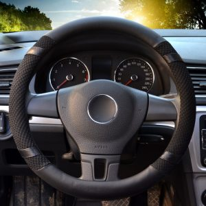 LucaSng Universal Best Leather Steering Wheel Cover