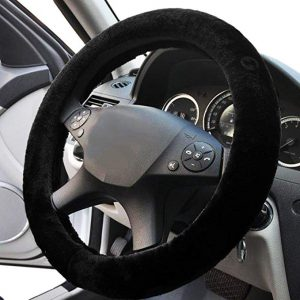 Zone Tech Plush Stretch- On Vehicle Steering Wheel Cover