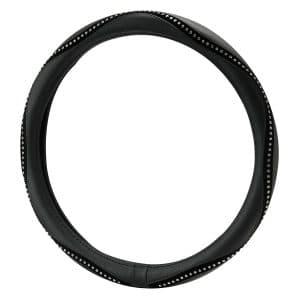 Masque Alpena 10403 Black Bling Steering Wheel Cover