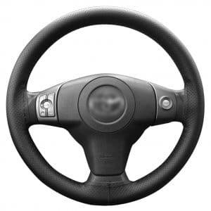 Lemonbest C0196 Universal Car Steering Wheel Stitch On Wrap Cover
