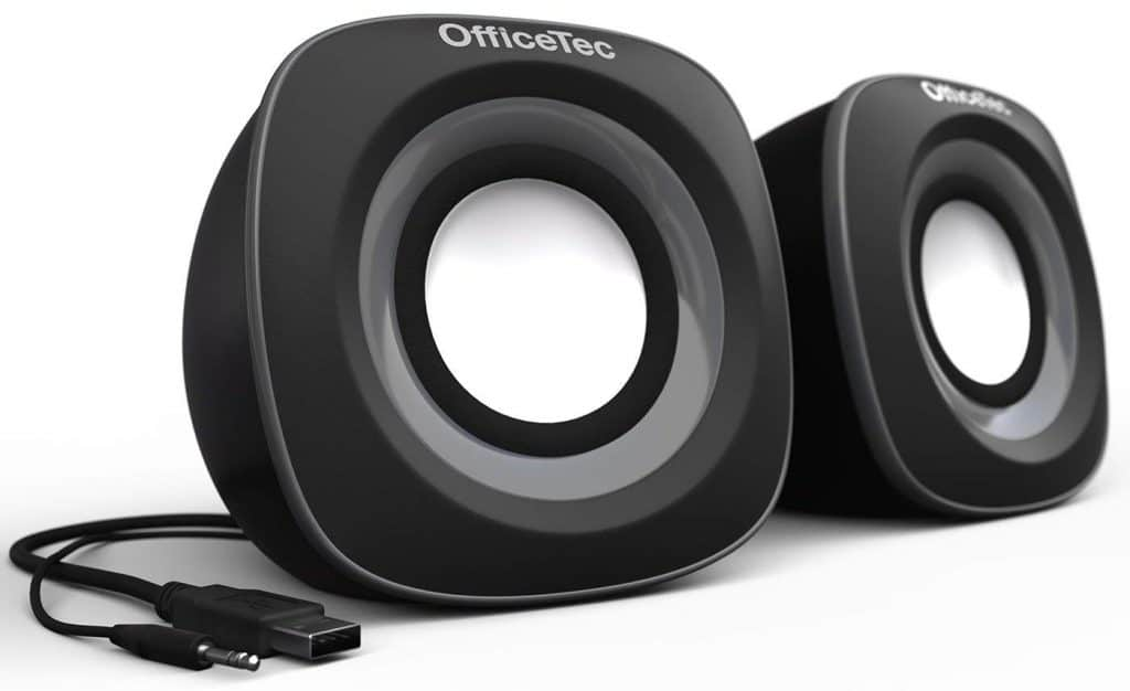OfficeTec USB Computer Speakers Compact 2.0 System for Mac