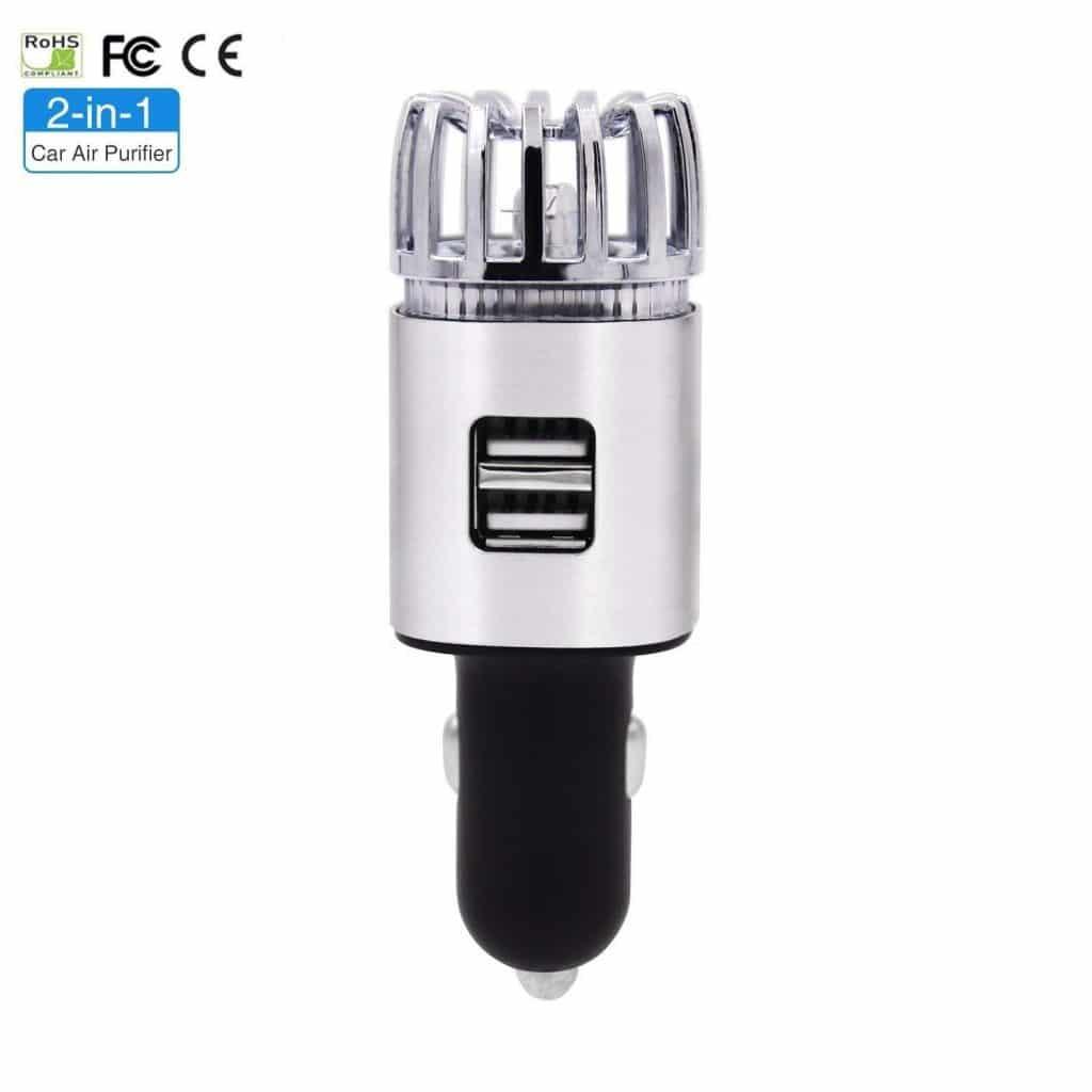 LINKPAL Car Air Purifier, Ionizer, Car Air Freshener