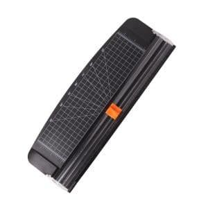 Jielisi 12-inch Titanium Scrapbooking Paper Trimmer Cutters, Black