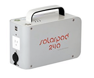 Solarpod 240 Small Quiet Portable Solar Generator