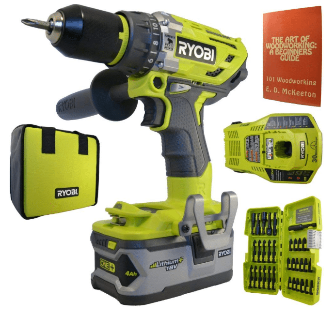 Ryobi P1813 18-Volt ONE+ Brushless Hammer Drill Kit