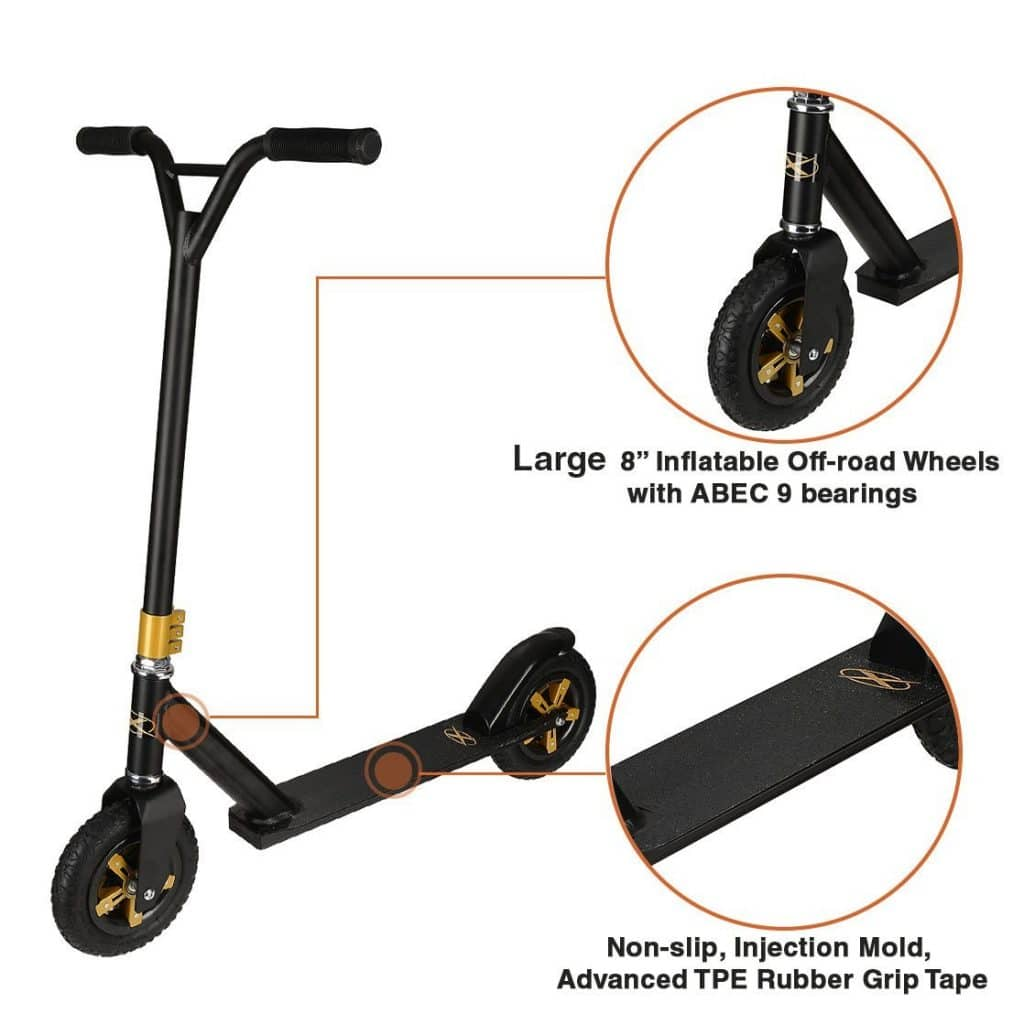 Xspec Freestyle Aluminum Kick Pro Dirt Scooter