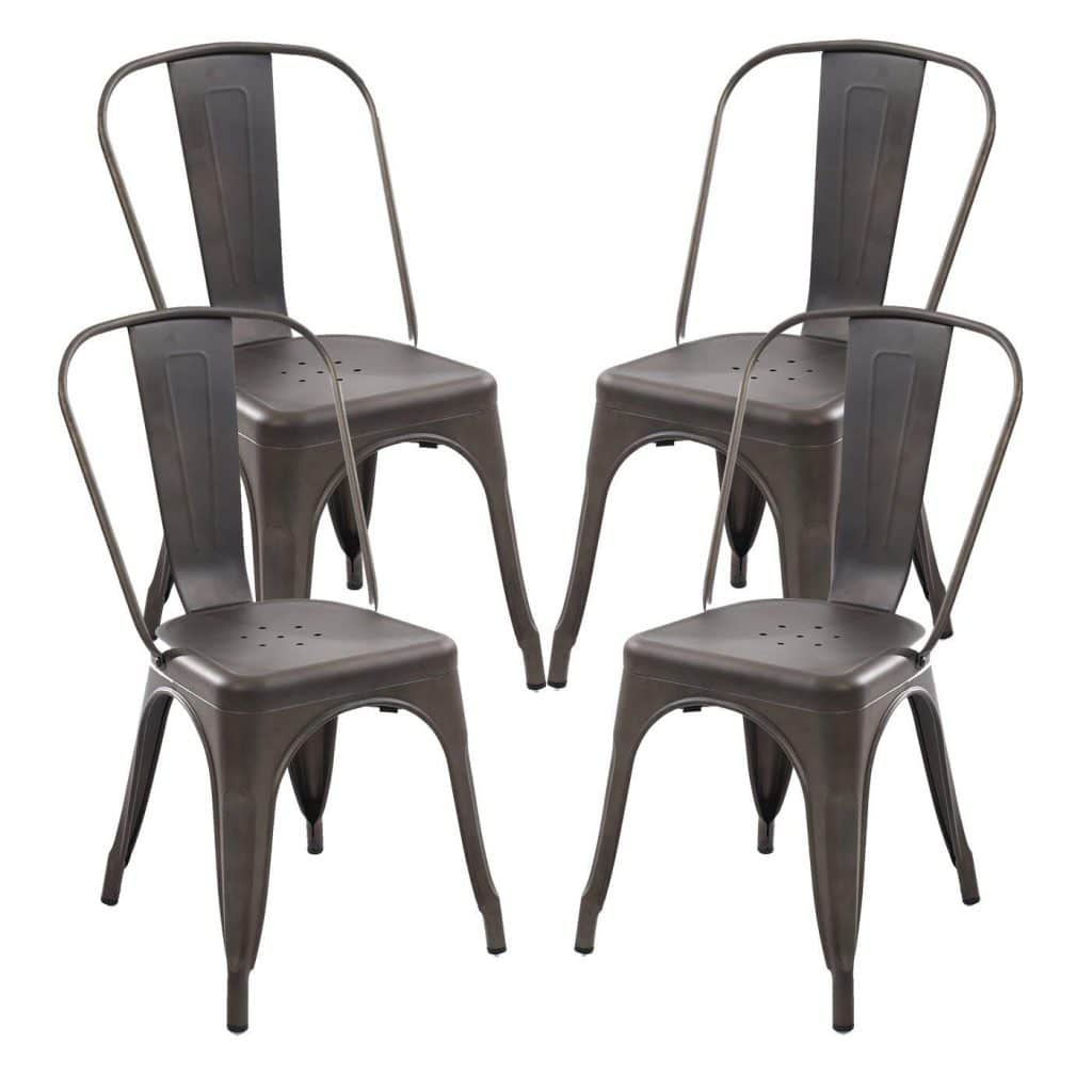 Poly and Bark Trattoria Side Chair in Bronze