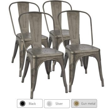 Furmax Metal Dining Chair Indoor