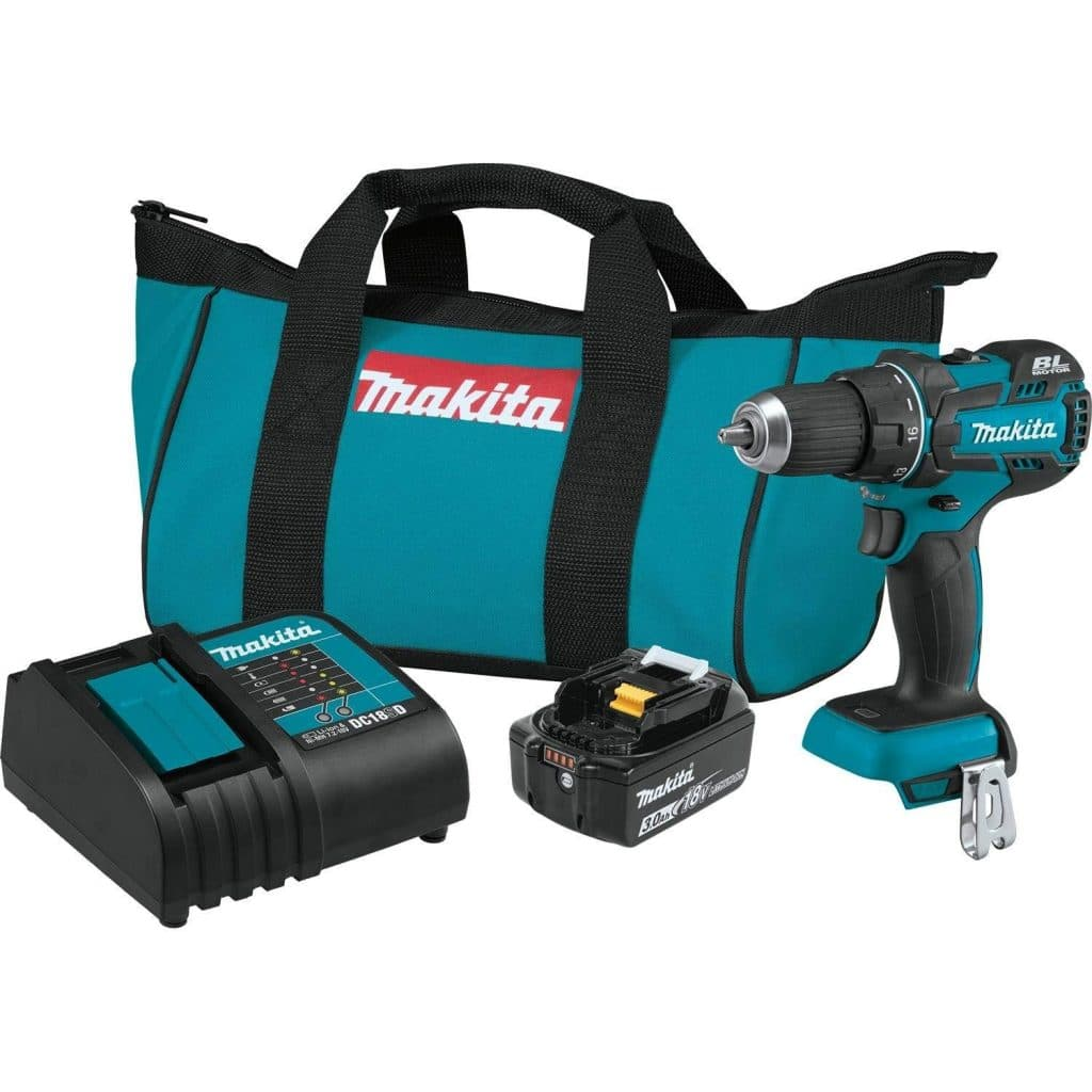 "Makita XFD061 18V LXT Lithium-Ion COMPACT Brushless Cordless 1/2"" Driver-Drill Kit"