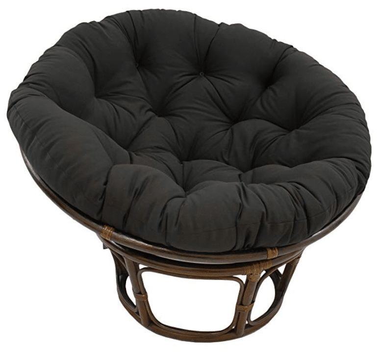 Blazing Needles Solid Twill Papasan Chair Cushion