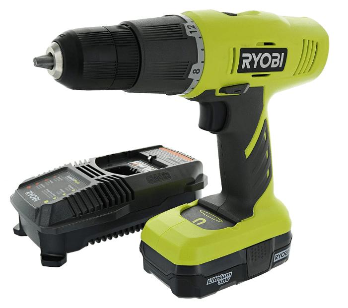 Ryobi P1810 One+ 18V Lithium Ion Drill