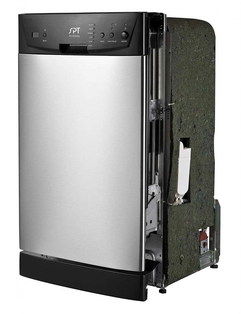"SPT SD-9252SS Energy Star 18"" Built-In Dishwasher"