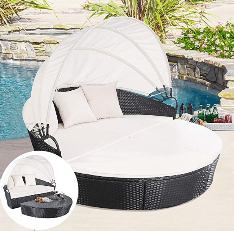 TANGKULA Patio Furniture Outdoor Lawn Backyard Poolside