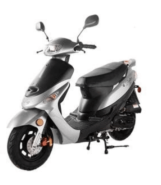 Taotao 50cc Gas Street Legal Scooter ATM50-A1 Scooter Sliver