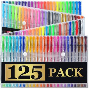 Artist's Choice 125 Gel Pen XL Set with Case  - Best Gel Pens for Coloring